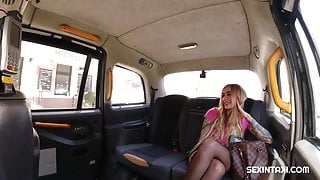 Horny blonde wants to fuck with the driver