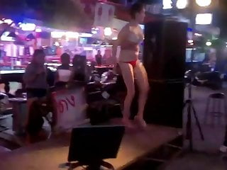 Teen thai bar Russian girl striptease in thai bar outdoor