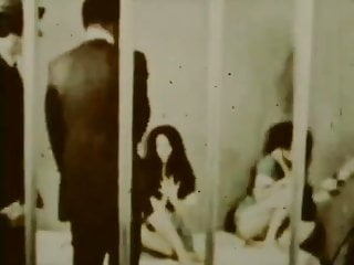 Vintage restaurant bar - Vintage:70s interracial behind bars group