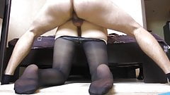 Girl Gets Her Big Ass Fucked in Pantyhose