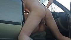 Dogging wife fuck in car with stranger from dating site