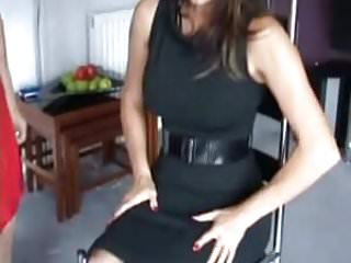 Spanked over knee squirm wiggle mom Over janes knee