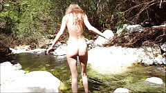 Beautiful Girl Masturbating Cum in the Woods Small River