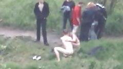 naked couple filmed