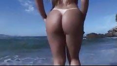 Hot Blonde Fuck Bull on the Beach.