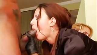 two hotties Claudia Rossi and Julie Silver in satin