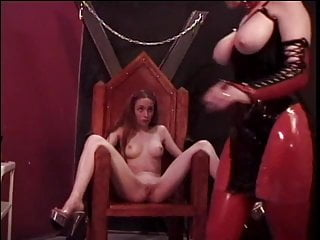 Teen thin asshole lesbian torture Slutty redhead is tortured by two older doms