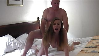 Mature couple sex ended with a creampie