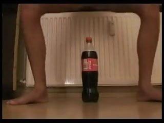 Coke pussy Coke bottle insertion