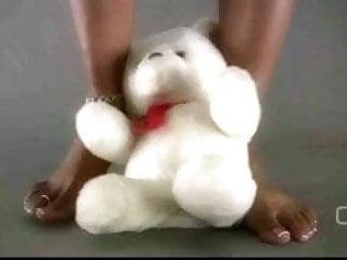 Sexy teddy lingerie porn Darla tv - darla tramples teddy bear with sexy ebony feet