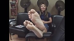 Asian MILF creamy soles