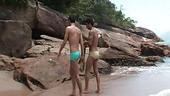 Two Couple Gay Enjoying Anal sex In Beach