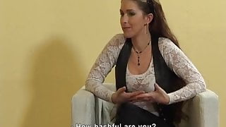 DOMINA GRABS HER CANE JUST TO SPANK ANOTHER CASTING GIRL