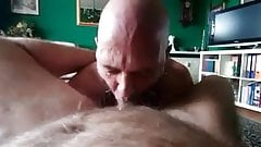 Slaves blowjob to service the owner