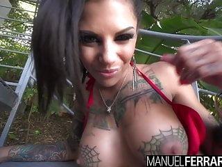 Bonnie bernstein upskirt Bonnie rotten tattooed trollop contorts for anal