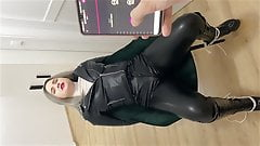 Torture my girlfriend pussy with vibrator under pants hot