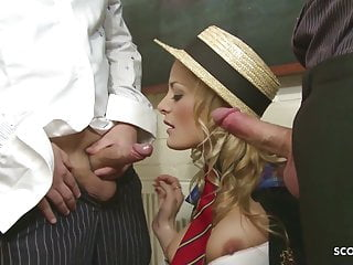 All tubes chloe conrad anal Rough ass fuck for slim blonde schoolgirl in mmf threesome