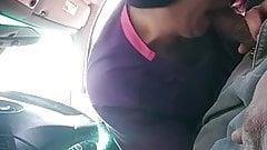 Two prostitute sucking black cock in car