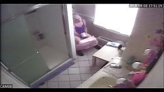 Step Mom Caught Bathroom Spycam Masturbating