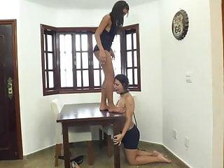 Lesbian trample torture Tit trampling