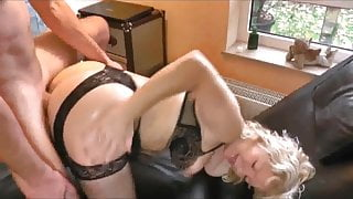 Horny German Milf takes six loads in her ass