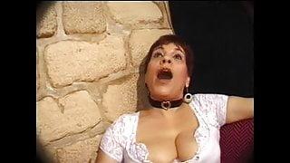 FRENCH MATURE n26 brunette anal stepmom gangbang in club