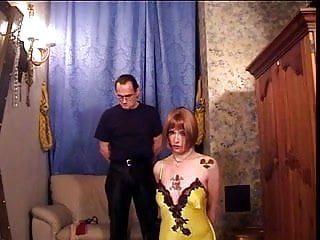 Devon in yellow lingerie - Hottie in yellow lingerie bound and spanked by her master