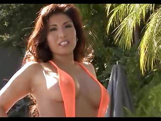 Asian clothing orange county - Bikiniriot-akira lane orange fishnet slng