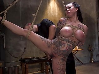 Rope girl bondage Tattoo squirt dynamo lily lane bound in rope bondage and fuc