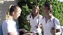Triple (POV) Three Teenage School Girls