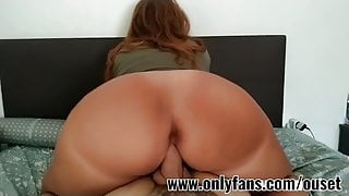 girl with Very big ass rides on top of a big cock.