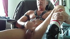 Stroking in harness.