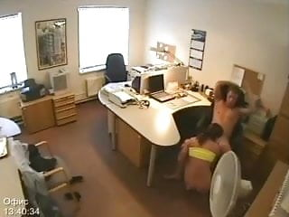 Security camera porn tube Secretary fucking caught on security camera