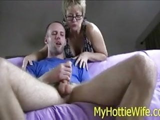 Milf lick scrotum - Tracy licks....sucks off young neighbor after work
