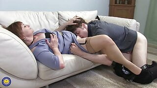 Mature housewife seduce young guy
