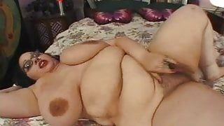 Nerdy Four Eyed Big Tit Hairy BBW Goth Rozzlynn