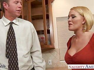 Milf slurp - Chesty wife krissy lynn slurping cum in the kitchen