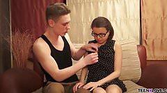 Brunette teen Jalace gets busy