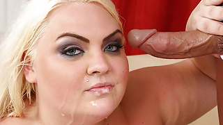 Blonde pierced BBW hottie