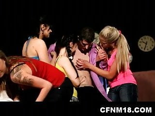 Teen sex clubs - Cool cfnm hen party at prague club with sexy teen sandra