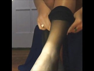 Fetish video clip links Pantyhose feet clips