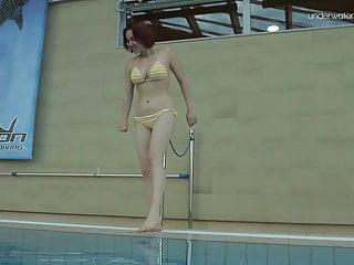 Lada gaga porn - Lada poleshuk underwater show big tits short hair