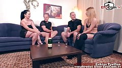 german couple private swinger sharing orgy at home