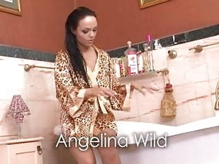 Redtube brunette playing with her pussy Angelina wild playing with her pussy in the hot tub