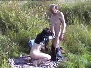 Homeless porn outdoor - Russian teen fucks homeless oldman outdoors