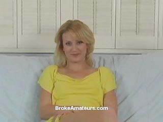 Blowjob amateur casting Amateur casting girl swallows cum