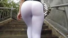 nasty Fit Ass in Whites (See Through) cum in mouth