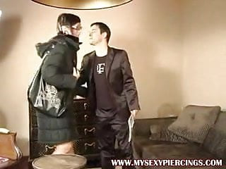 Couch pussy Tattooed and pierced punker slut fucked on the couch