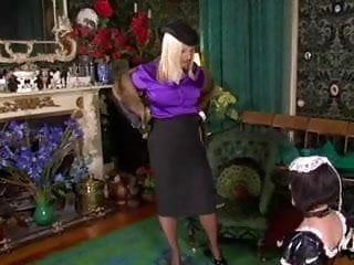 Spanked fetish Maid serves the lady