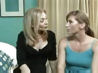 Mature lesbian hot sex Nina hartley and ariel in hot strap on action